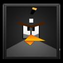 black,angrybird,blackframe icon
