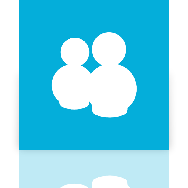 mirror, messenger, alt, live icon