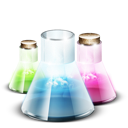 lab, vials, chemistry, tubes, test, research icon