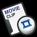 cilp, video, film, movie icon