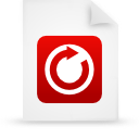 file, red, paper, document icon