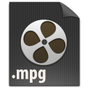 file, mpg, video, mpeg, paper, document icon