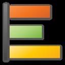 orange, yellow, poll, green icon