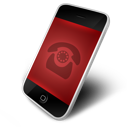 red, phone icon