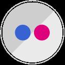 network, sharing, media, flickr icon