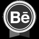 ribbon, social, behance icon