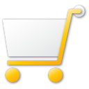 shopping, buy, commerce, cart, yellow, shopping cart icon