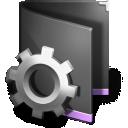 Smart Folder Black icon