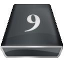Black 9 icon