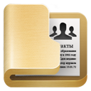 folder, contacts icon