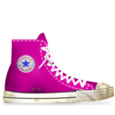 converse,pink,dirty icon