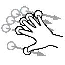 five, flick, gestureworks, finger icon