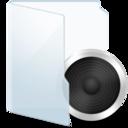 Folder Light Audio icon