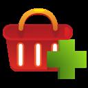 shopping basket, ecommerce, add icon