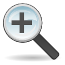 in, zoom in, gtk, zoom, magnifying class, enlarge, magnifier icon