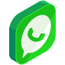 whatsapp, media, chat, communication, network, social icon