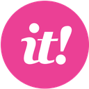 scoopit, media, social, pink, round icon
