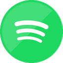 music, spotify, service, social media icon