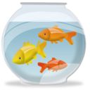 bowl, fish, animal icon