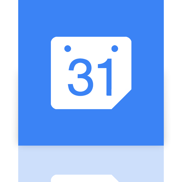 mirror, calendar, google icon