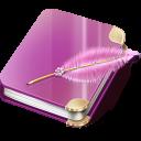 notebook girl icon