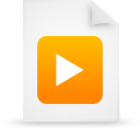 file, paper, document, orange icon