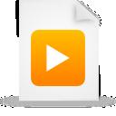 file, paper, document, orange icon