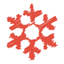 scribble, christmas, flake, ice, winter, snowflake, snow icon