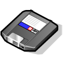 zip, disc, disk, save icon