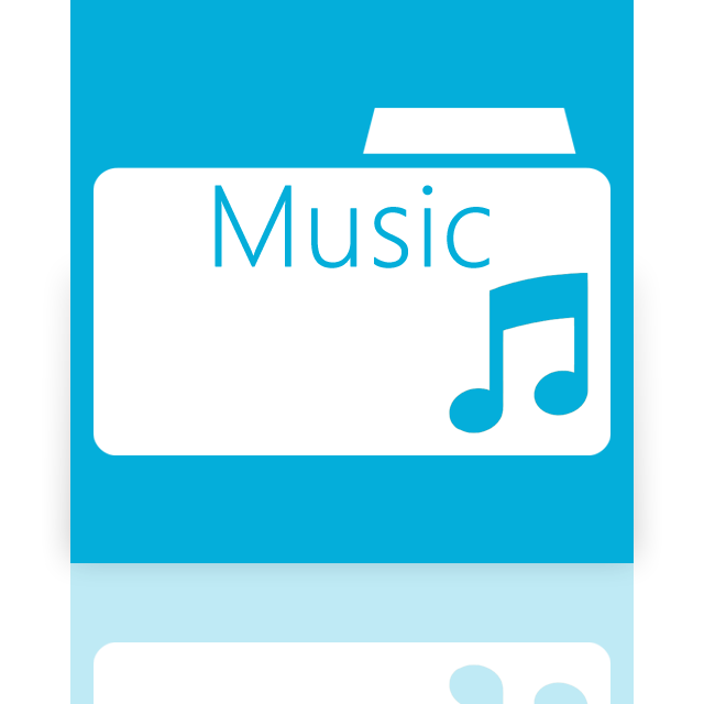 mirror, folder, music icon