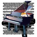 music, piano icon