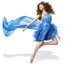 girls,blue,dress icon