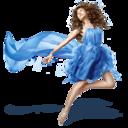 girls,blue,dress icon