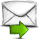 forward, email icon