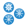 flakes, christmas, snow icon