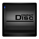 Black, Compact, Disc, Drive icon