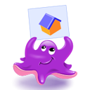 octopus,cartoon icon