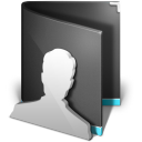 Users Folder Black icon