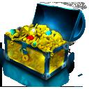 imvu, chest, gold, coins, treasure icon
