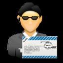user, mail, secret agent, agent, ssl, signature icon