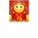 Matreshka, Red, Up icon