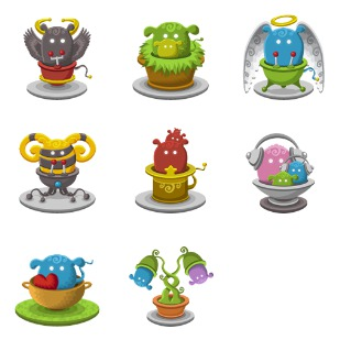 Basket Monsters 2 icon sets preview