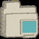 folder,monitor icon