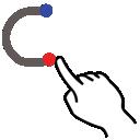 gestureworks, c, stroke, letter, lowercase icon