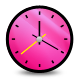 Clock, Pink icon