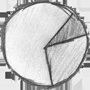 chart, statistic, analytics, pie icon