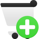 add, shopping, cart icon