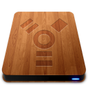 firewire, slick, drive, wooden icon