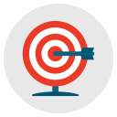 success, goal, target, archery, aim icon
