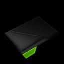 Empty, Folder, Green icon